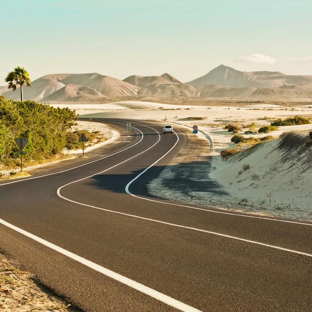 """Corralejo Dunes in Fuerteventura"" stock image"