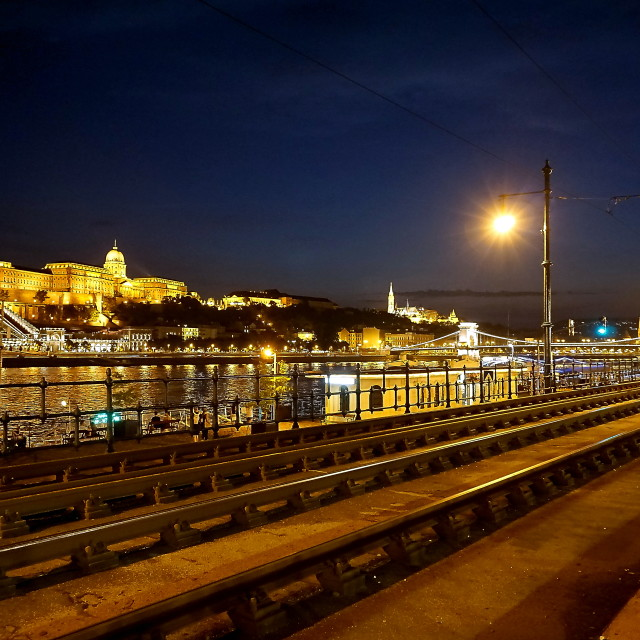 """Budapest at Night"" stock image"