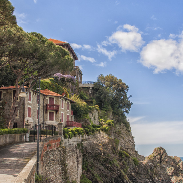 """Seaside houses in Italy"" stock image"