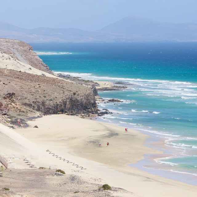 """Mal Nombre beach on the south east coast of Fuerteventura"" stock image"