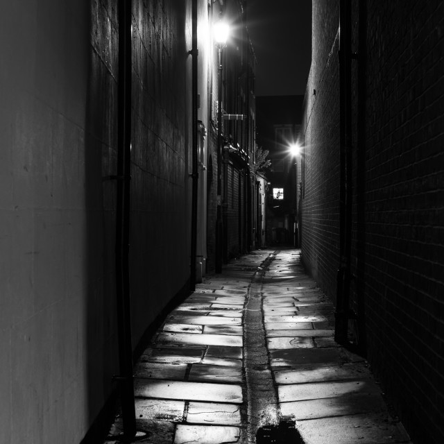 """THE DARK ALLEYWAY"" stock image"