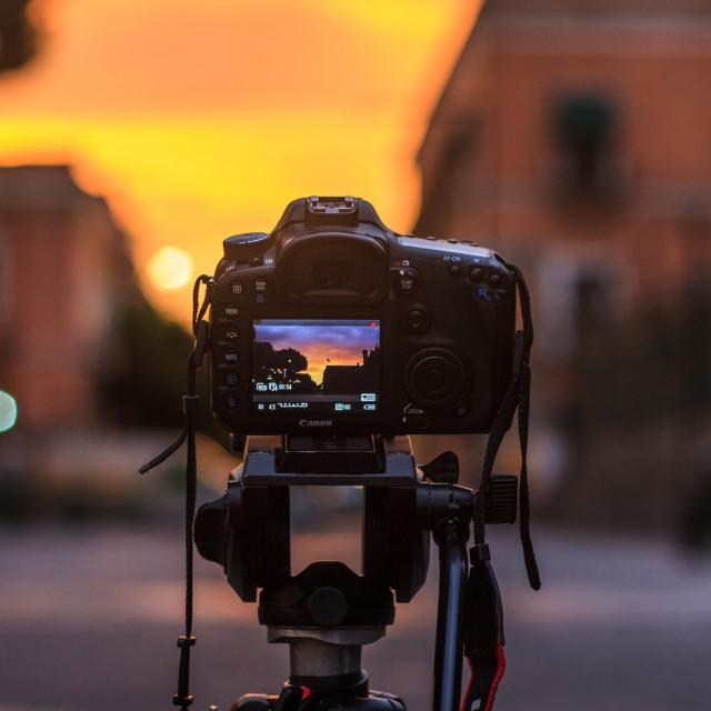 """Sunrise at Puebla"" stock image"