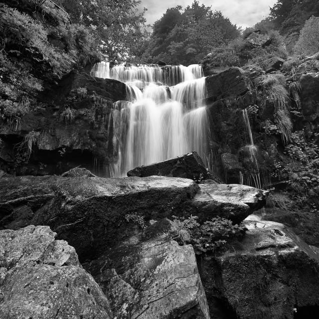 """""""Dardagna waterfall,Tuscany,Italy"""" stock image"""