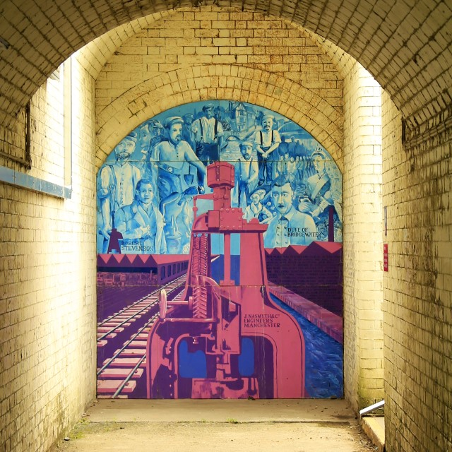 """Railway Station Mural"" stock image"
