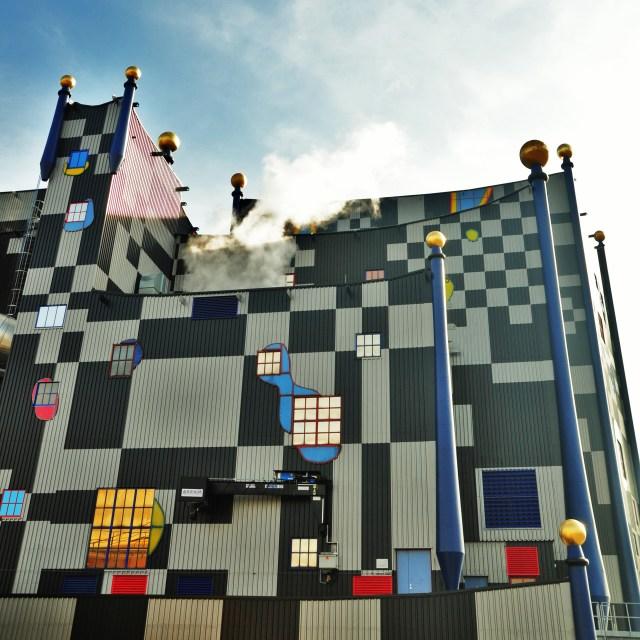 """Hundertwasser Incinerator"" stock image"