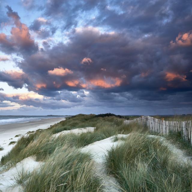 """Brancaster beach"" stock image"