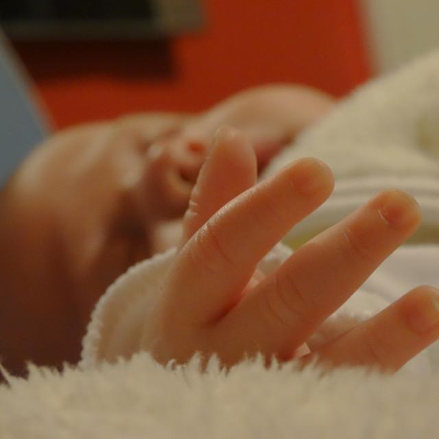 """""""Baby hand"""" stock image"""