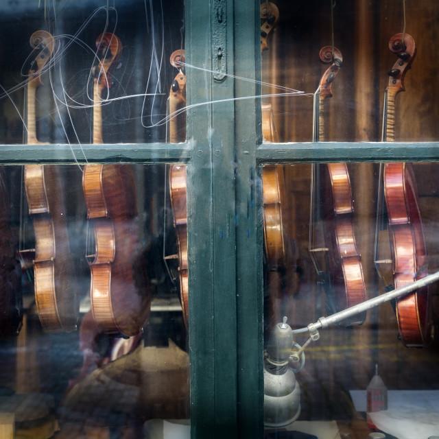 """""""Violin shop"""" stock image"""