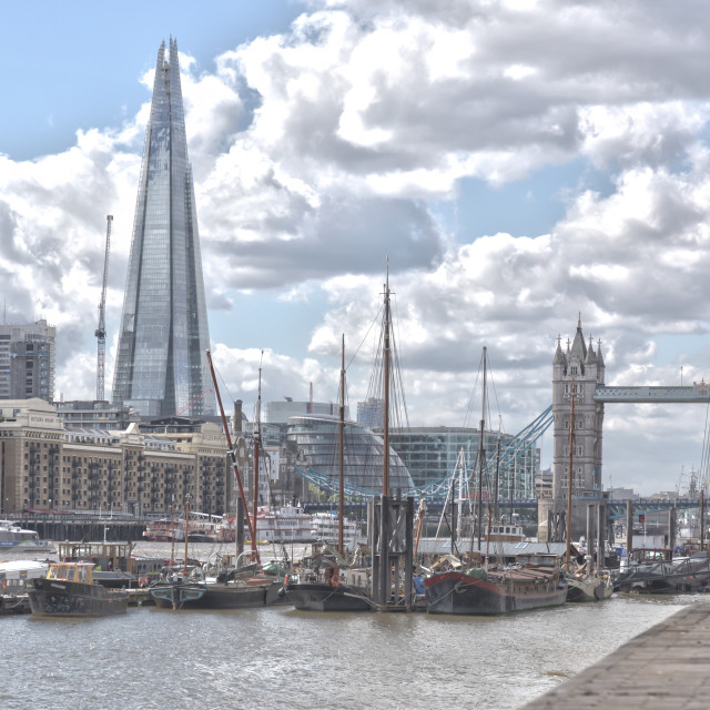 """Tower Bridge and the Shard"" stock image"