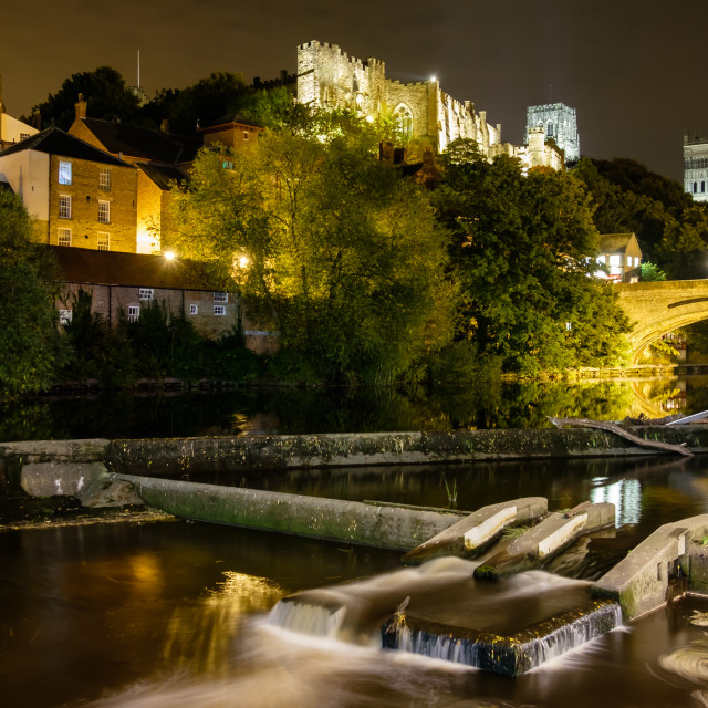 """Durham Cathedral At Night"" stock image"