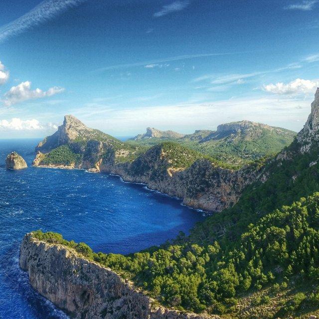"""""""Mirador des Colomer Mallorca"""" stock image"""