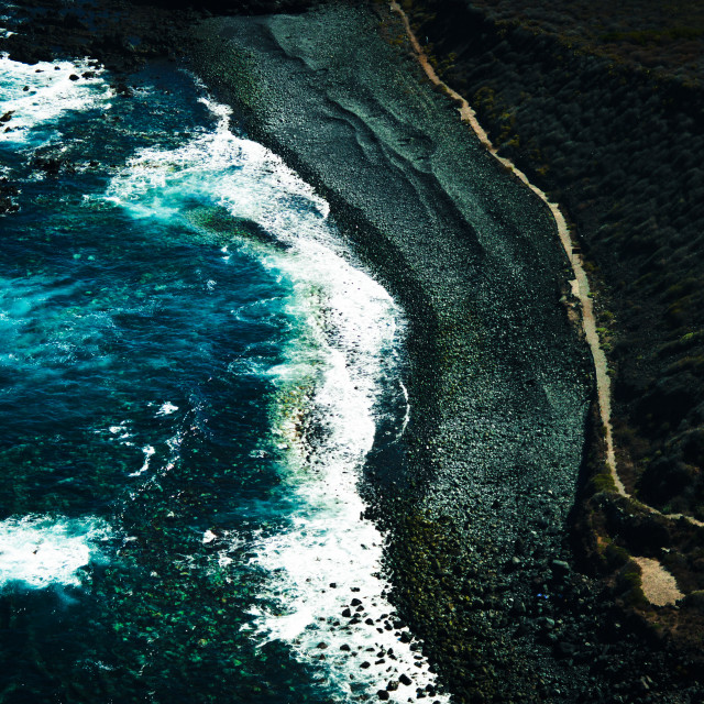 """Volcanic beach"" stock image"