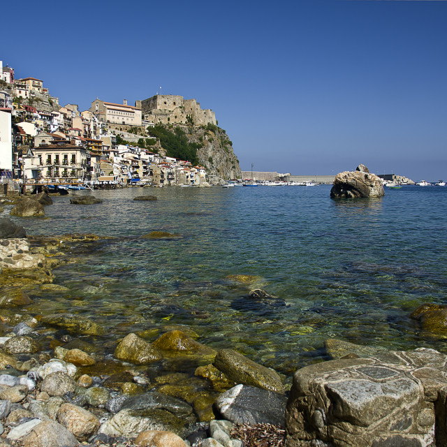 """""""Scilla typical and old italian fishing village"""" stock image"""