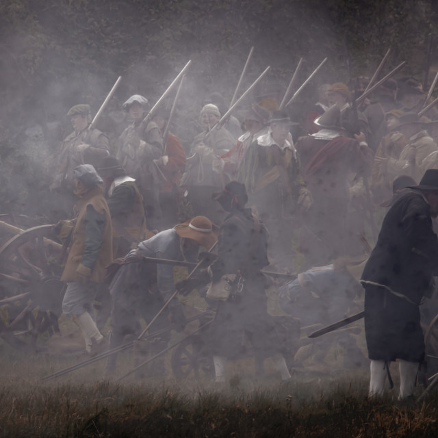 """English Civil War 1644"" stock image"