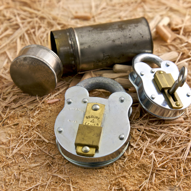 """Metal Locks"" stock image"