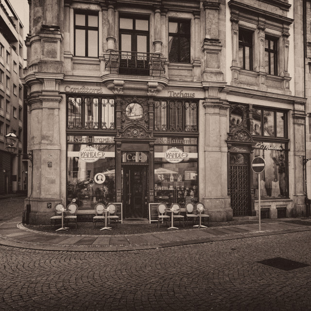 """Old Tea house and Cafe Leipzig Germany"" stock image"