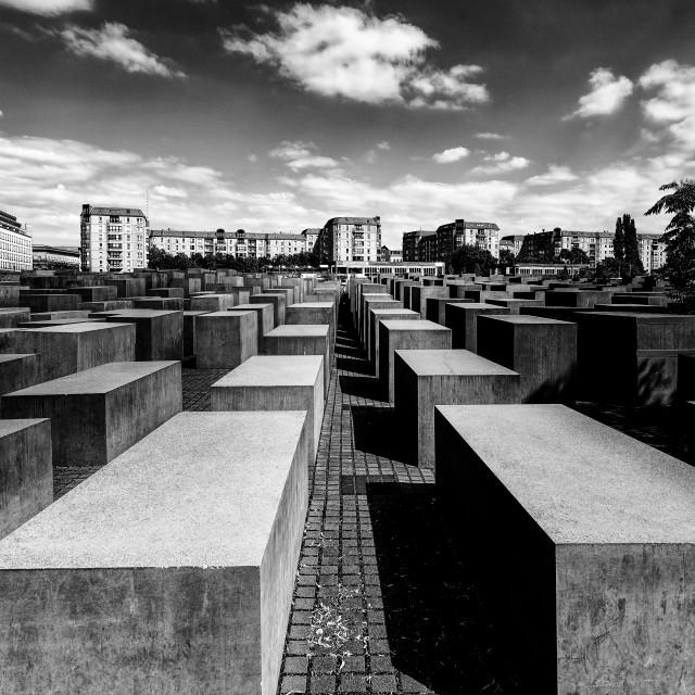 """""""Holocaust Memorial Berlin"""" stock image"""