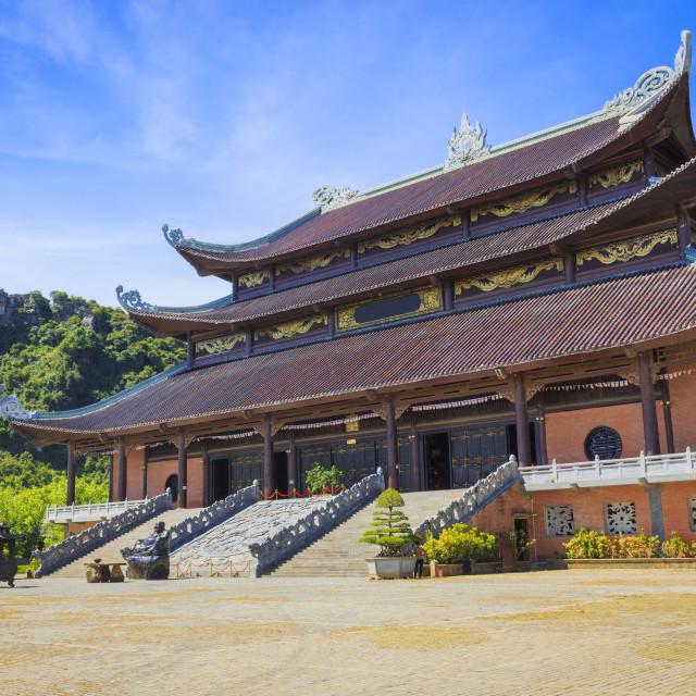 """""""Bai Dinh Pagoda, Trang An"""" stock image"""
