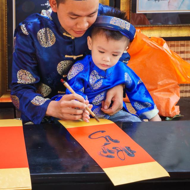"""""""Family painter artist"""" stock image"""