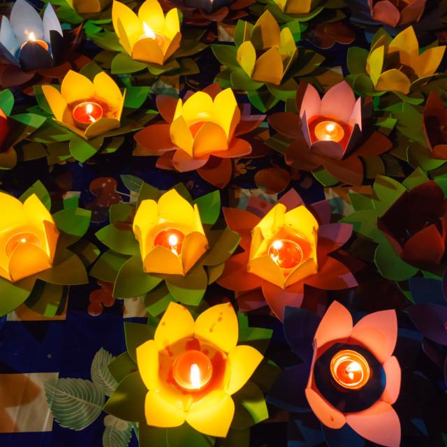 """""""Light lotus lanterns"""" stock image"""