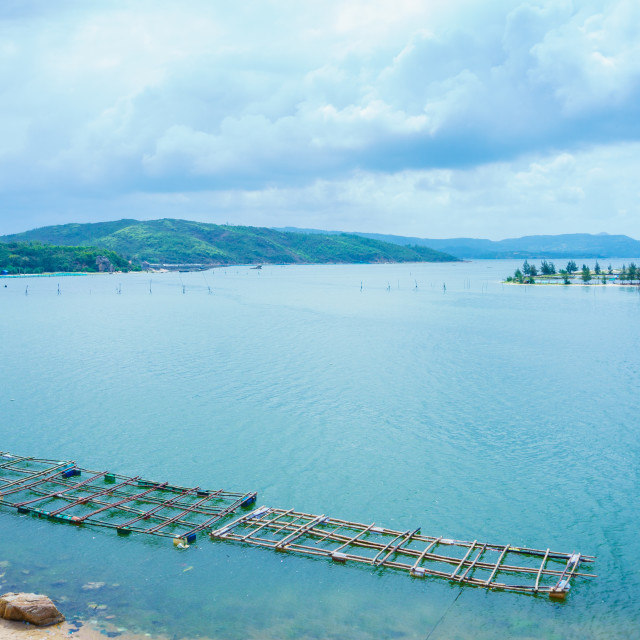 """""""Aerial view of OLoan lake"""" stock image"""