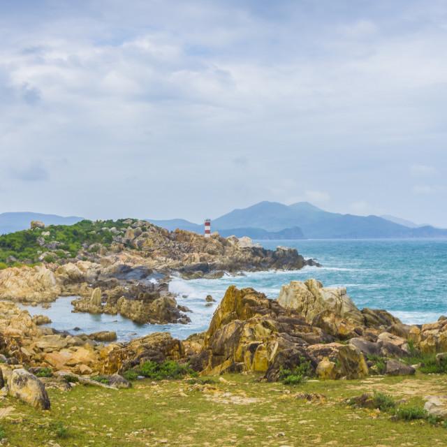 """""""GanhDen lighthouse"""" stock image"""