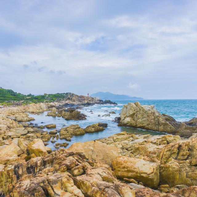 """""""GanhDen Lighthouse coast"""" stock image"""