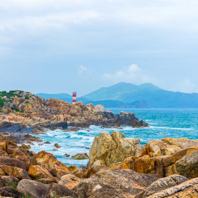 """GanhDen beach coastline"" stock image"