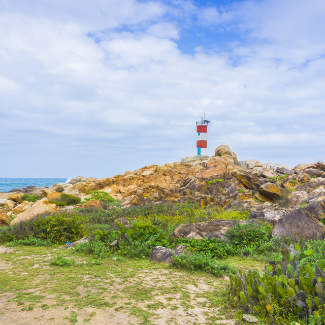 """""""View of GanhDen lighthouse. HDR"""" stock image"""