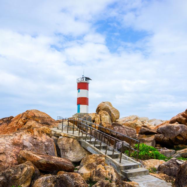"""""""Walkway to lighthouse"""" stock image"""