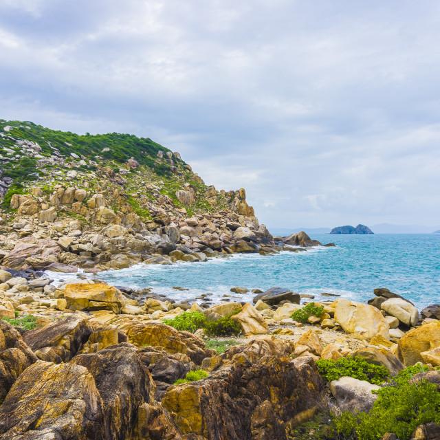 """Coastline beach"" stock image"