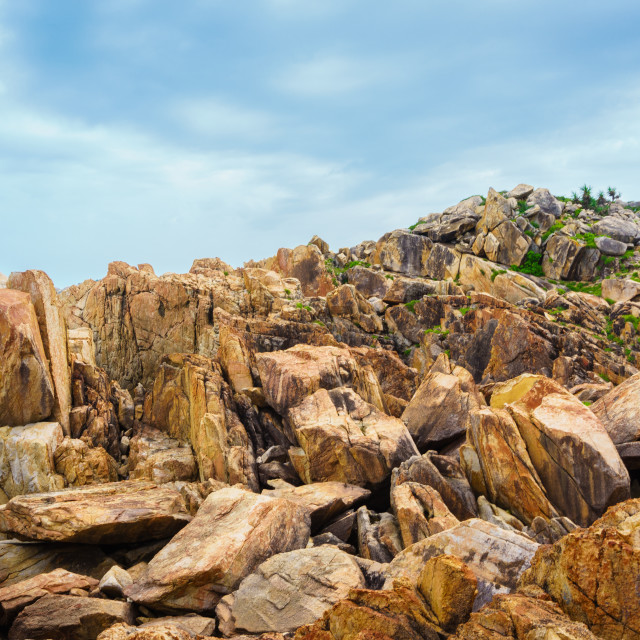 """Rock of GanhDen beach"" stock image"