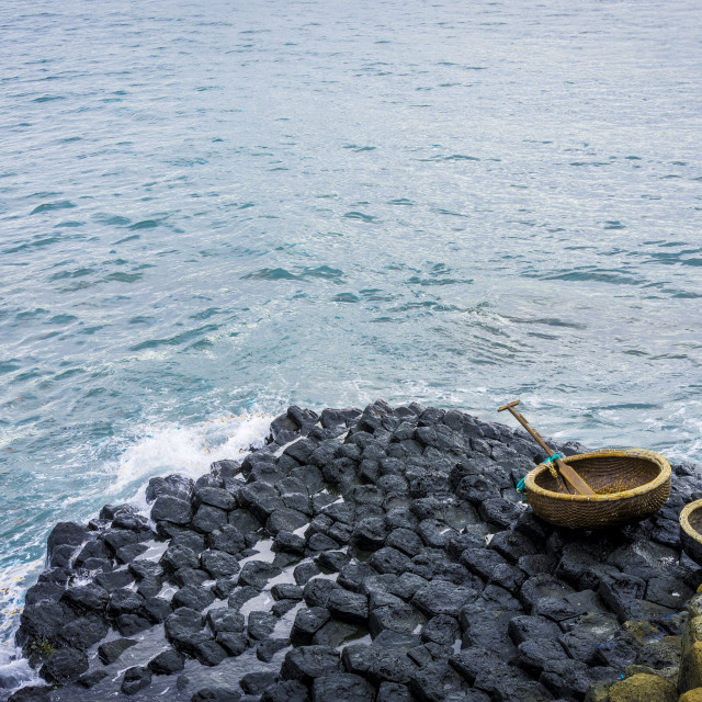 """""""Coracles and giant's causeway"""" stock image"""