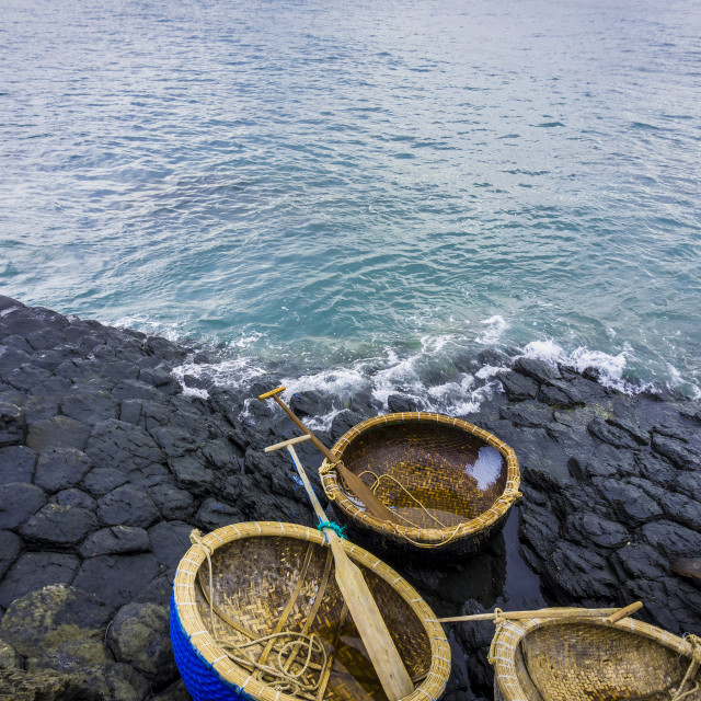 """""""Coracles and GanhDaDia giant's causeway"""" stock image"""