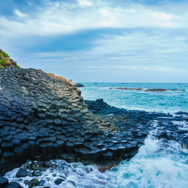 """""""The famous giant's Causeway"""" stock image"""