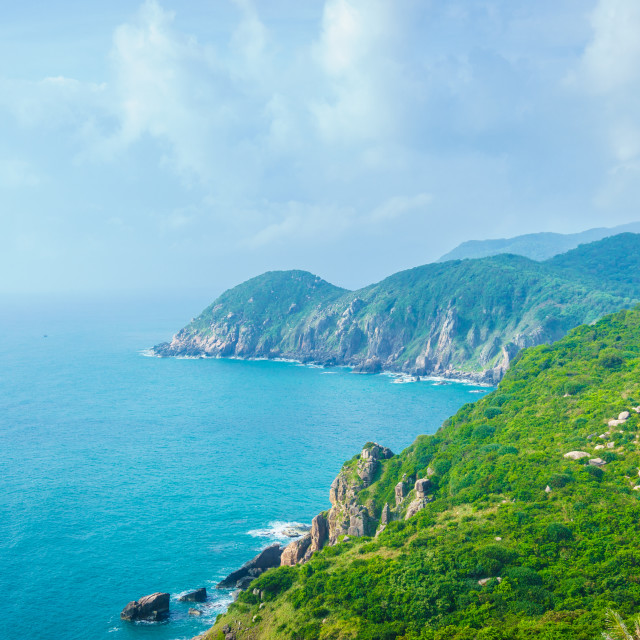 """Colorful spring morning on the Dai Lanh coast"" stock image"