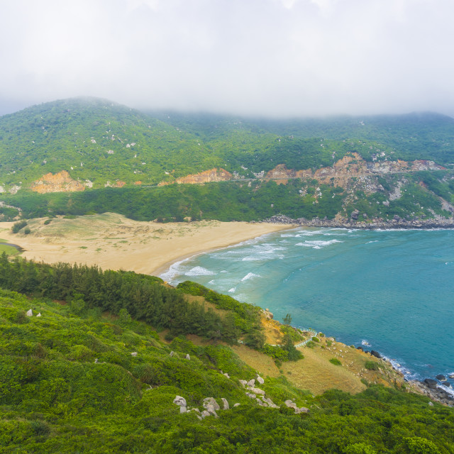 """BaiMon beach, DaiLanh, PhuYen, VietNam"" stock image"