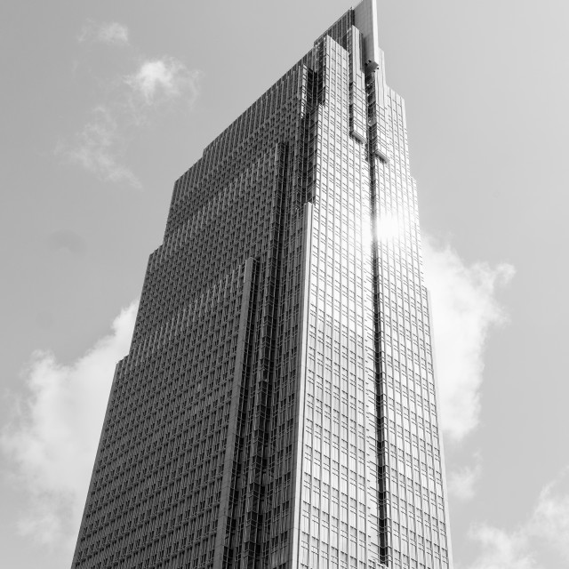 """The high tower. B&W"" stock image"