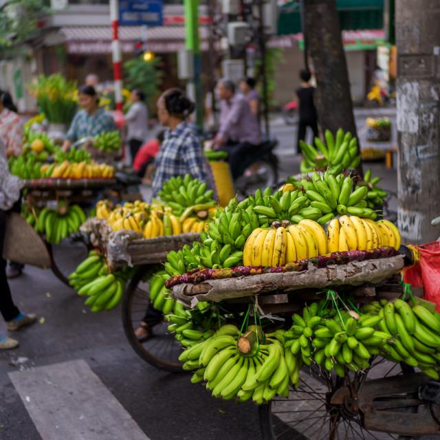 """Bananas vendor"" stock image"