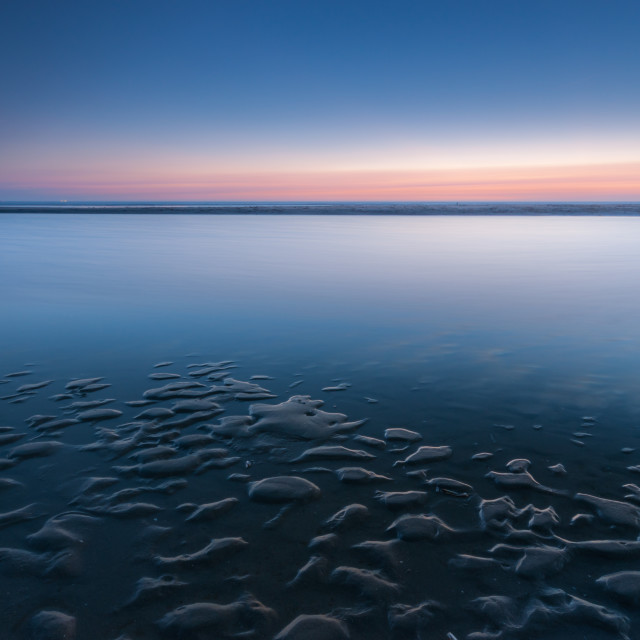 """Twilight Beach"" stock image"