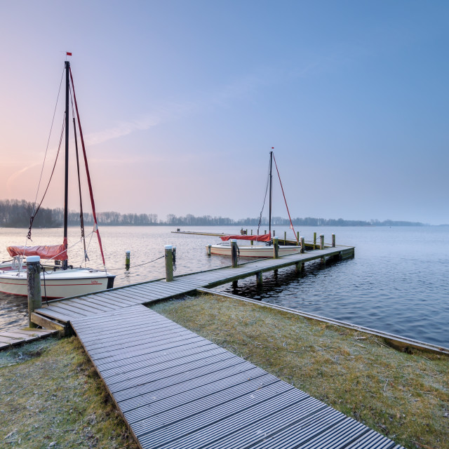 """""""Boats at the jetty"""" stock image"""