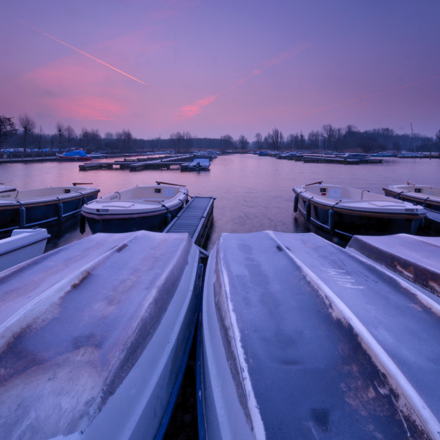 """""""A boatyard in the morning light"""" stock image"""