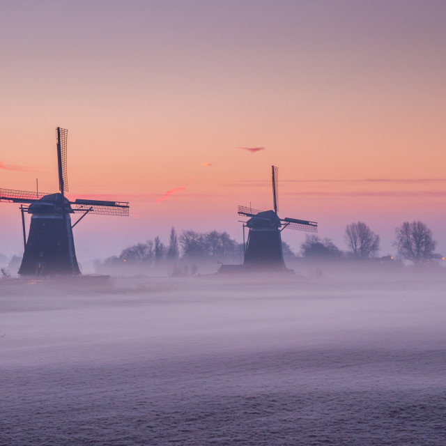 """Wilsveen in the Fog"" stock image"