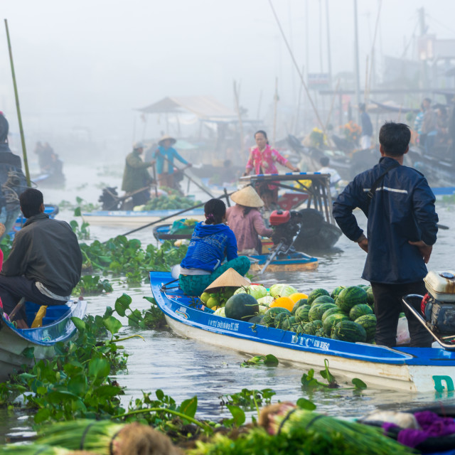 """The floating market"" stock image"