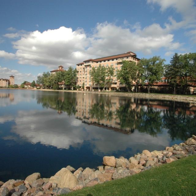"""""""Broadmoor Hotel, Colorado Springs"""" stock image"""