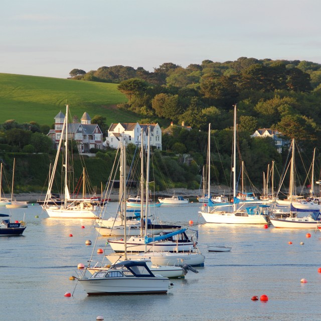 """Falmouth Harbour, England"" stock image"