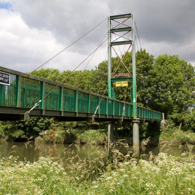 """Bridge over river, Devon, England"" stock image"