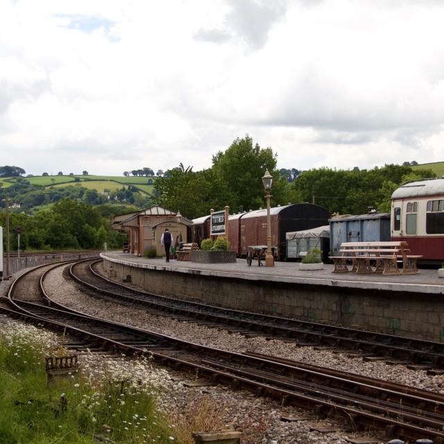 """Historic Train Station, Totnes, Devon, England"" stock image"