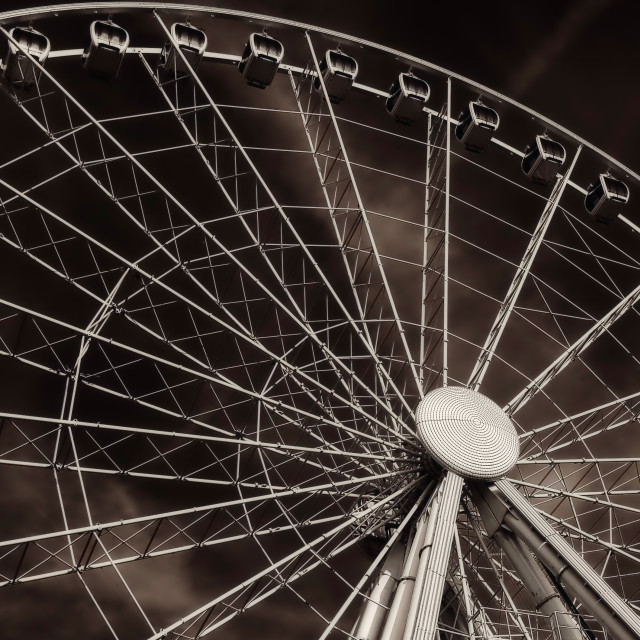 """Big Wheel Manchester mono"" stock image"