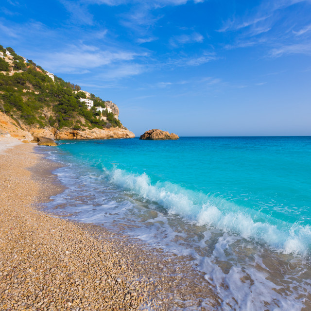 """Javea Playa Ambolo beach Xabia in Alicante"" stock image"